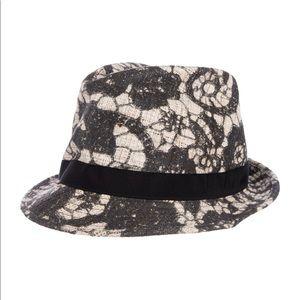 NWT Dolce & Gabbana silk floral fedora hat